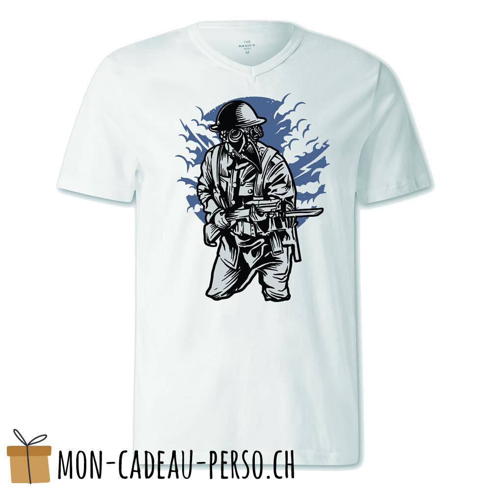 T-shirt pré-imprimé -  blanc - FEMME - Steampunk Style Soldier