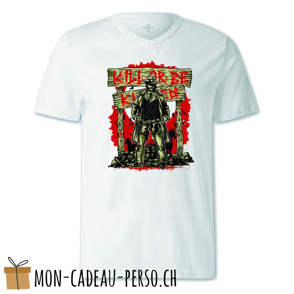 T-shirt pré-imprimé -  blanc - FEMME - Kill Or Be Killed
