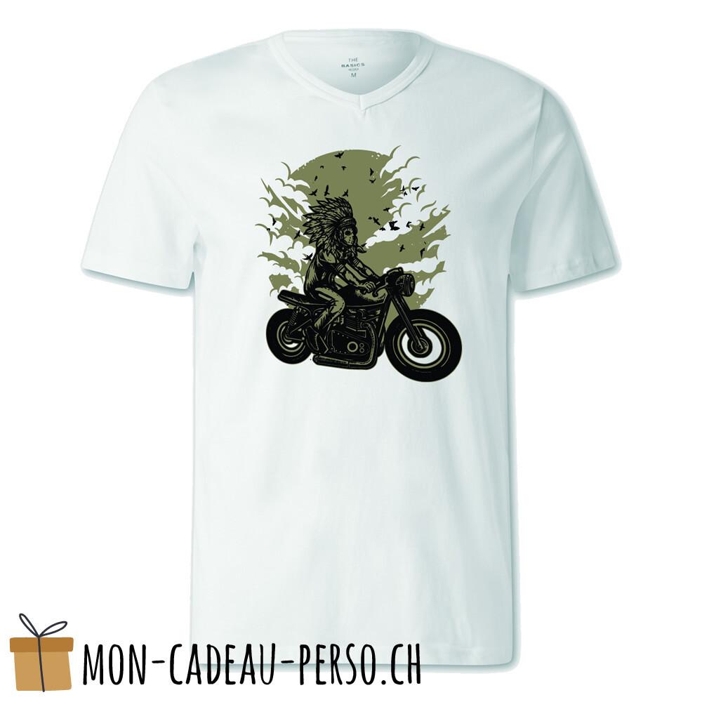 T-shirt pré-imprimé -  blanc - FEMME - Indian Chief Rider