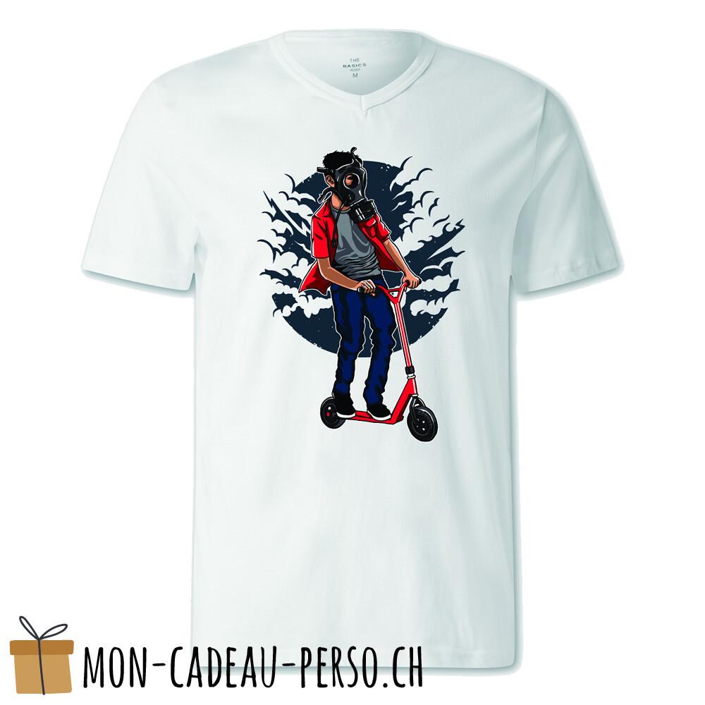 T-shirt pré-imprimé -  blanc - FEMME - Gasmask Rider