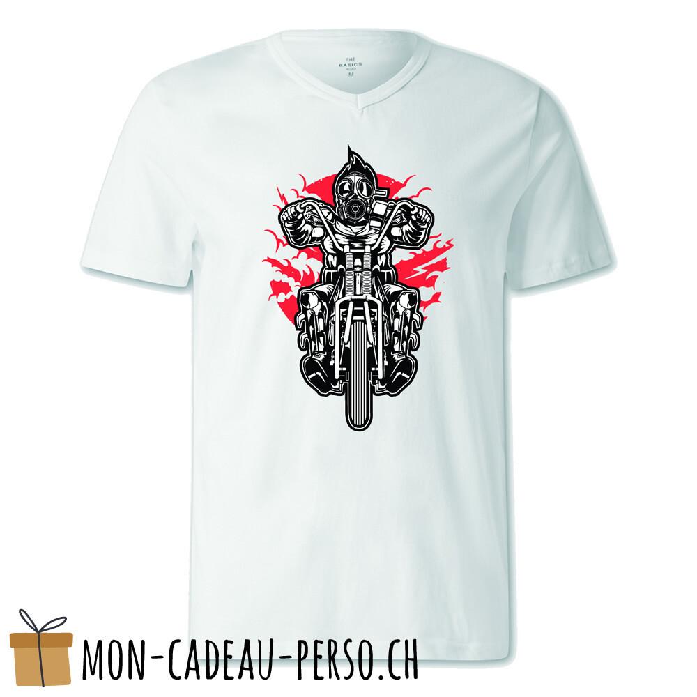 T-shirt pré-imprimé -  blanc - FEMME - Gasmask Chopper
