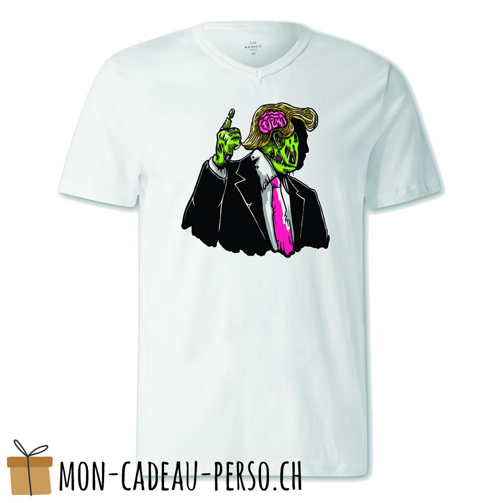 T-shirt pré-imprimé -  blanc - FEMME - Make Zombie Great Again