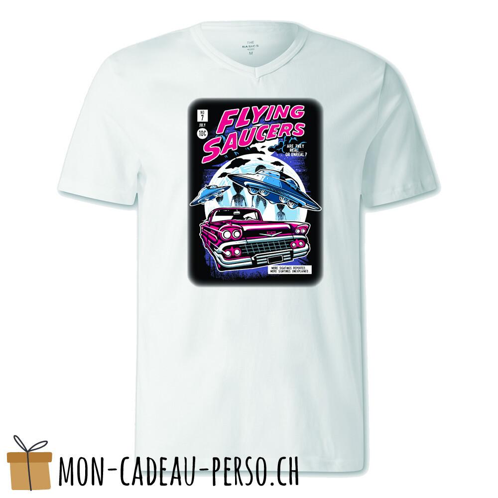 T-shirt pré-imprimé -  blanc - FEMME - Flying Saucers