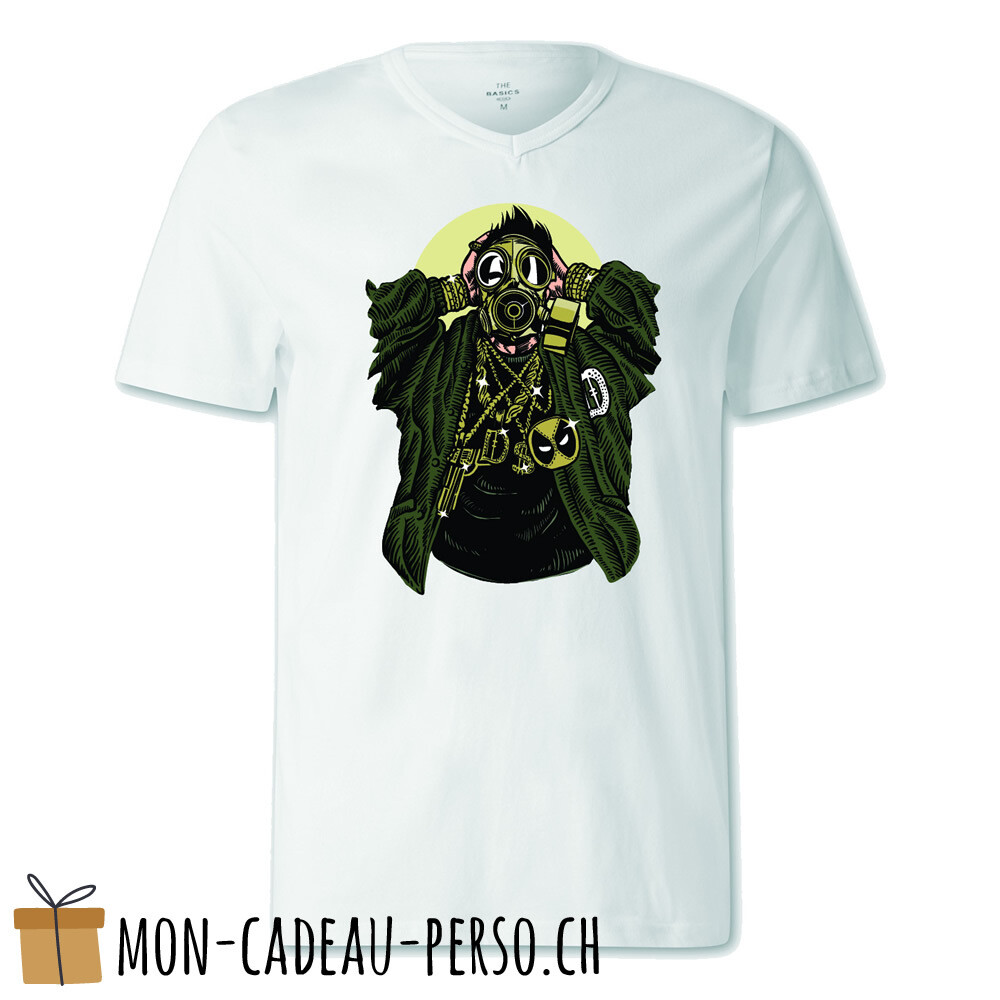 T-shirt pré-imprimé -  blanc - FEMME - Gasmask Gangsta