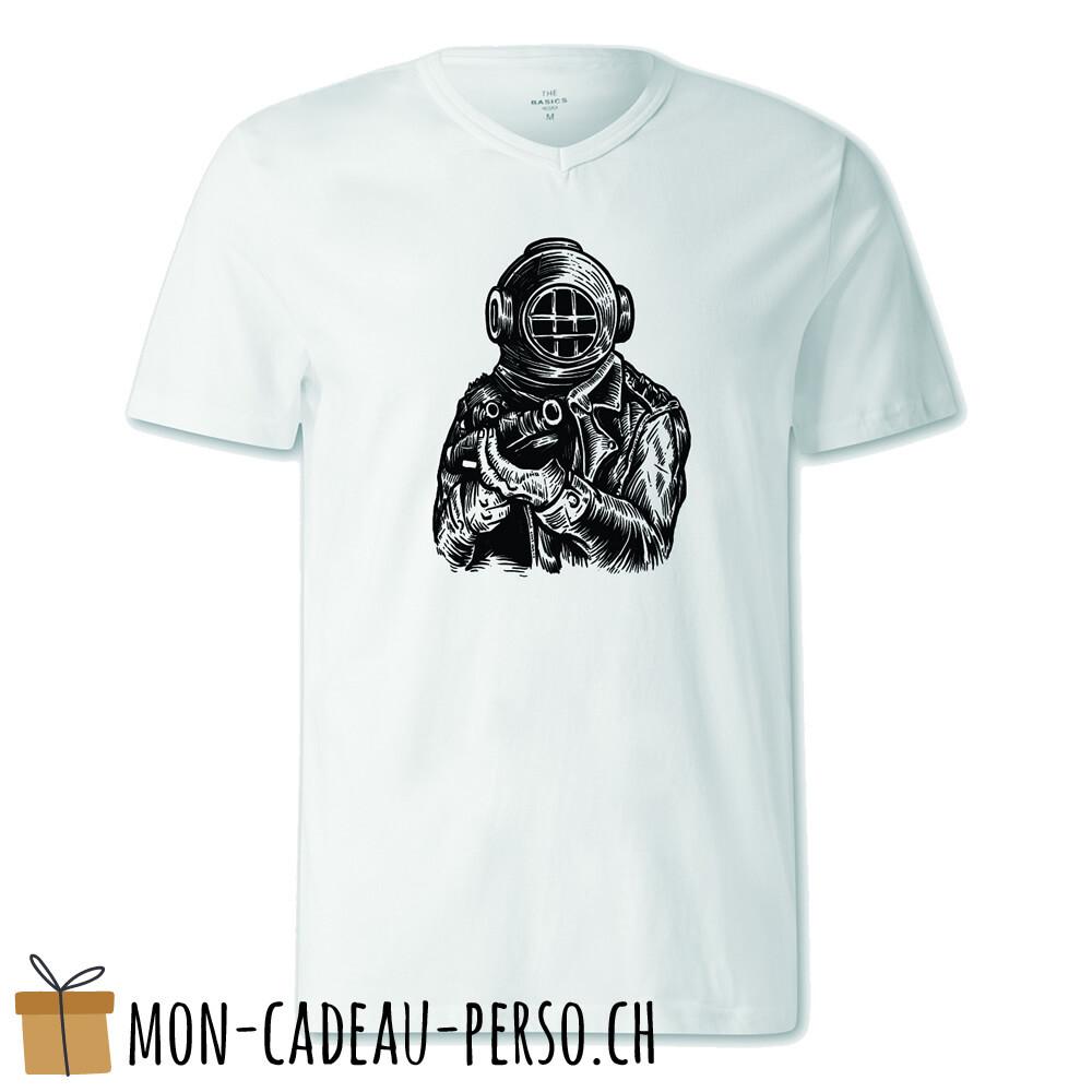 T-shirt pré-imprimé -  blanc - FEMME - Diver Soldier