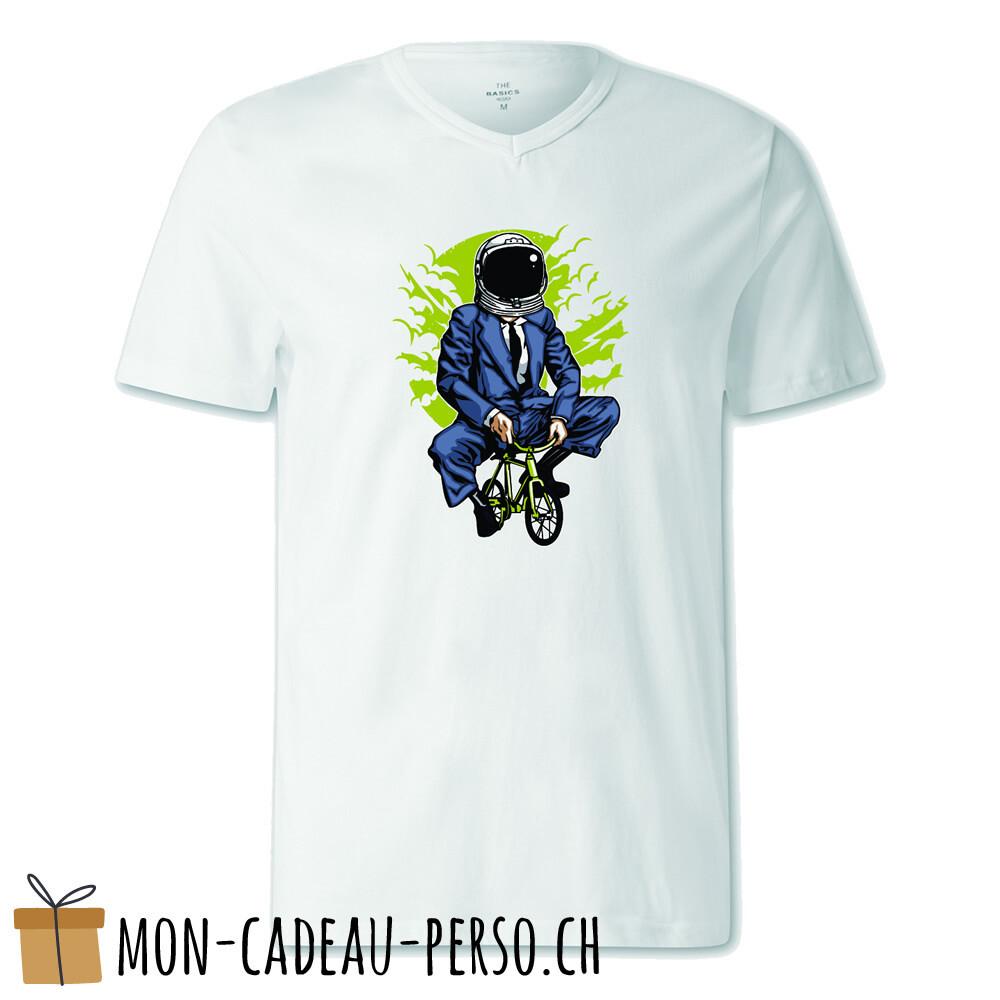 T-shirt pré-imprimé -  blanc - FEMME - Bike to the Moon