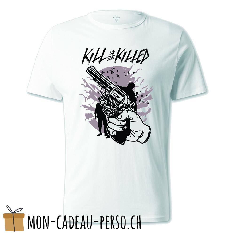 T-shirt pré-imprimé -  blanc - UNISEXE - Zombie Shooter
