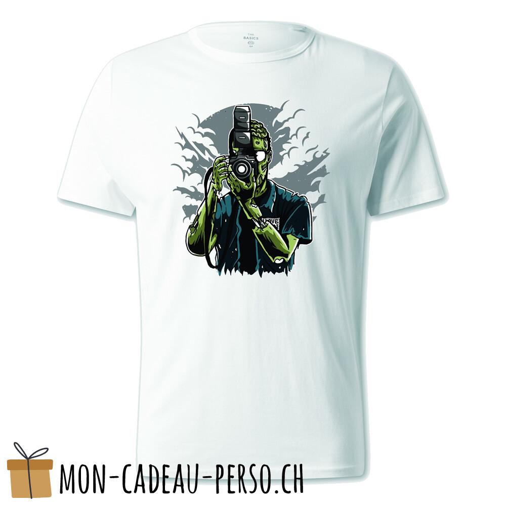 T-shirt pré-imprimé -  blanc - UNISEXE - Zombie Photographer