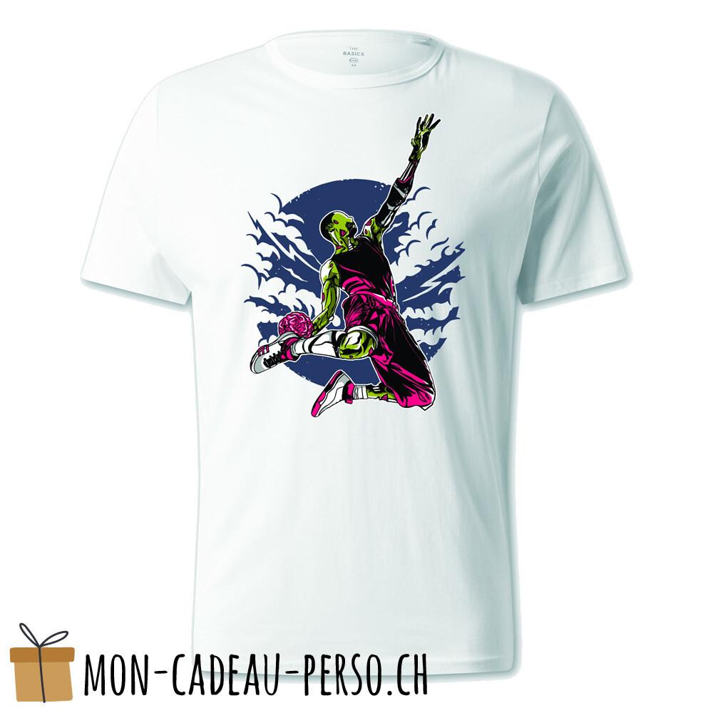 T-shirt pré-imprimé -  blanc - UNISEXE - Zombie Slam Dunk