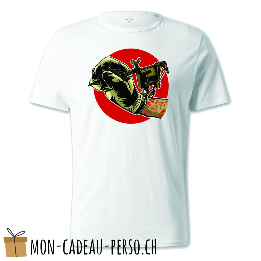 T-shirt pré-imprimé -  blanc - UNISEXE - Tattoo Machine