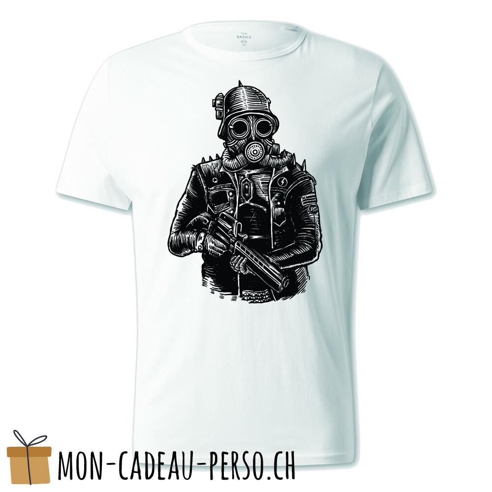 T-shirt pré-imprimé -  blanc - UNISEXE - Steampunk Soldier