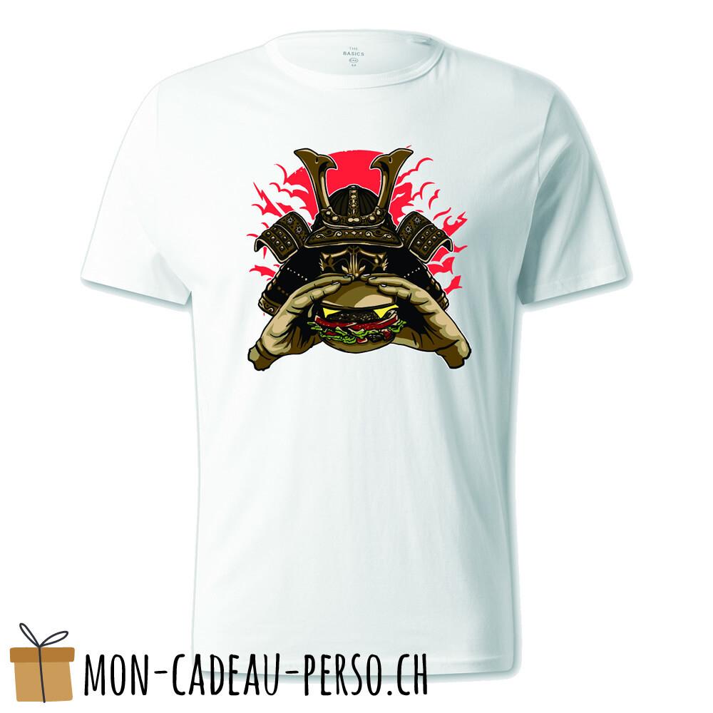 T-shirt pré-imprimé -  blanc - UNISEXE - Samurai Burger