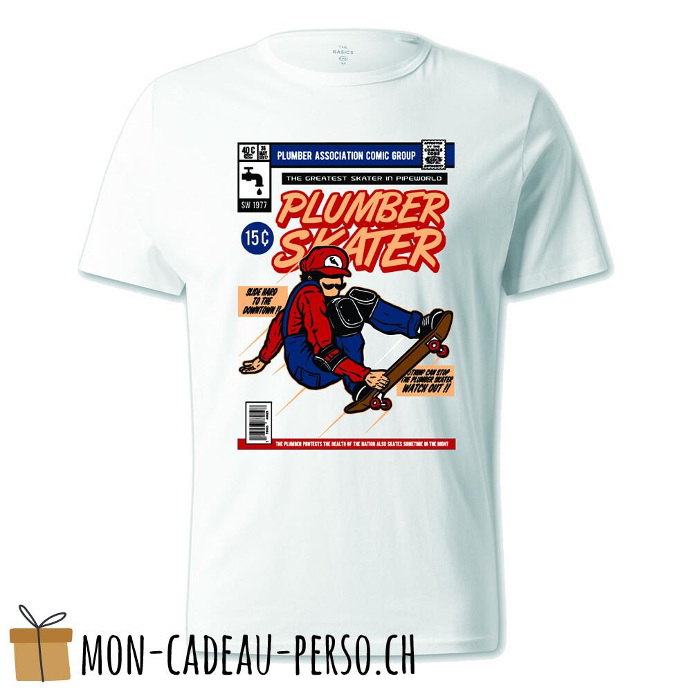 T-shirt pré-imprimé -  blanc - UNISEXE - Plumber Skater