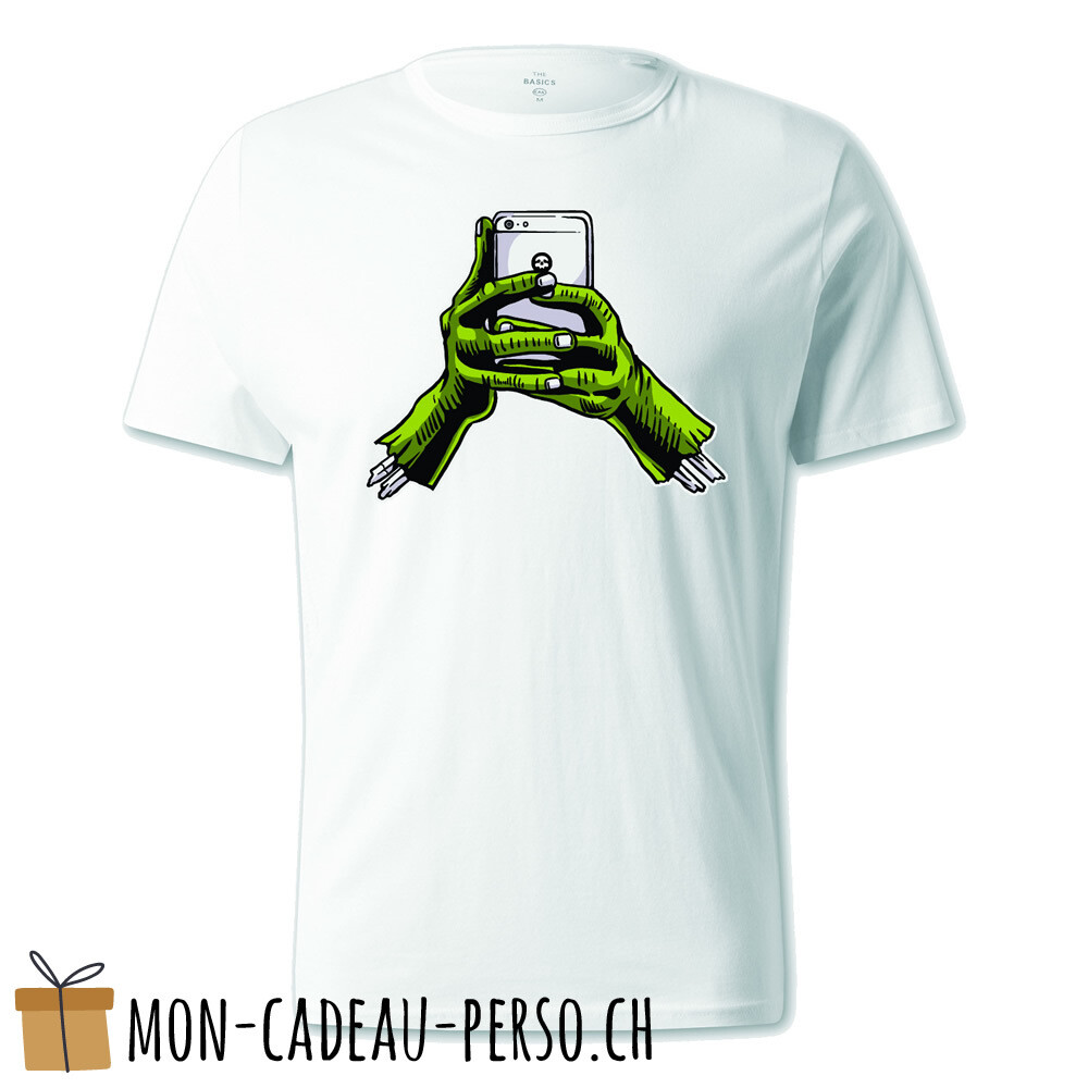 T-shirt pré-imprimé -  blanc - UNISEXE - Zombie Phone
