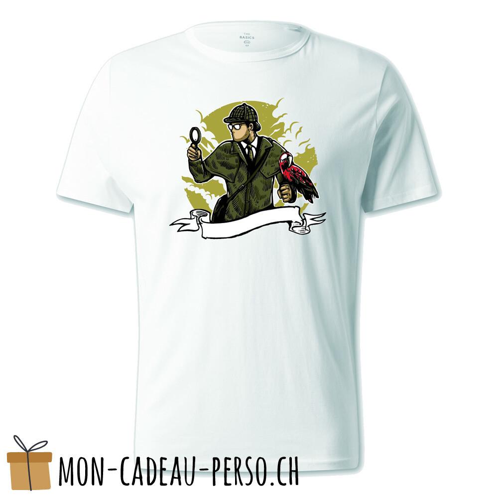 T-shirt pré-imprimé -  blanc - UNISEXE - Sherlock Holmes
