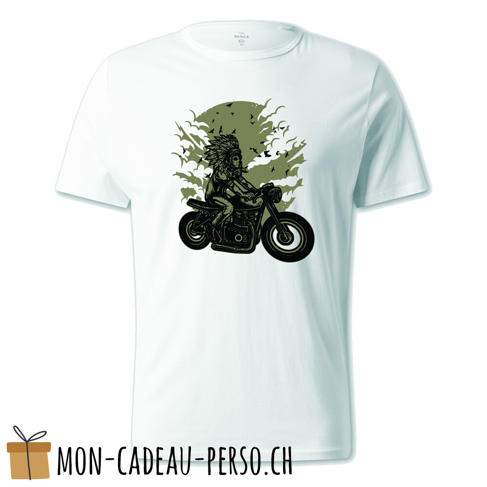 T-shirt pré-imprimé -  blanc - UNISEXE - Indian Chief Rider