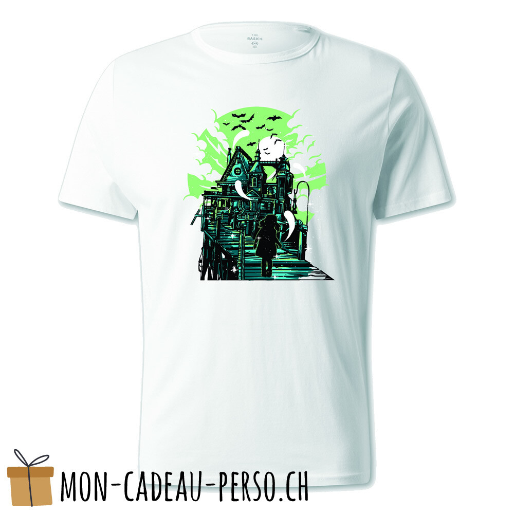 T-shirt pré-imprimé -  blanc - UNISEXE - Haunted House