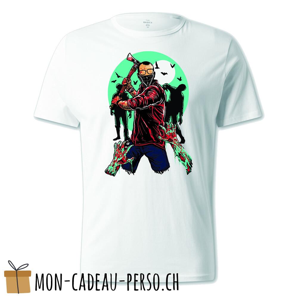 T-shirt pré-imprimé -  blanc - UNISEXE - Zombie Killer