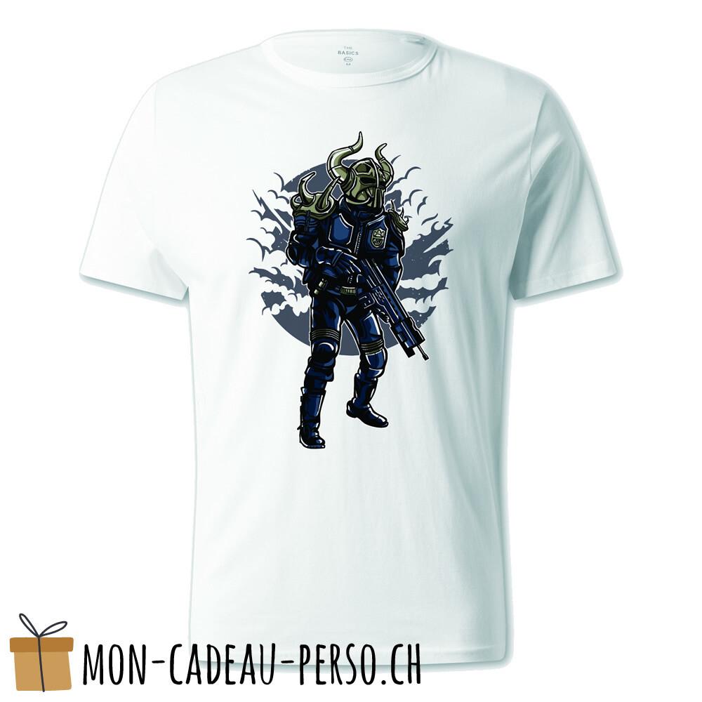 T-shirt pré-imprimé -  blanc - UNISEXE - Viking Soldier