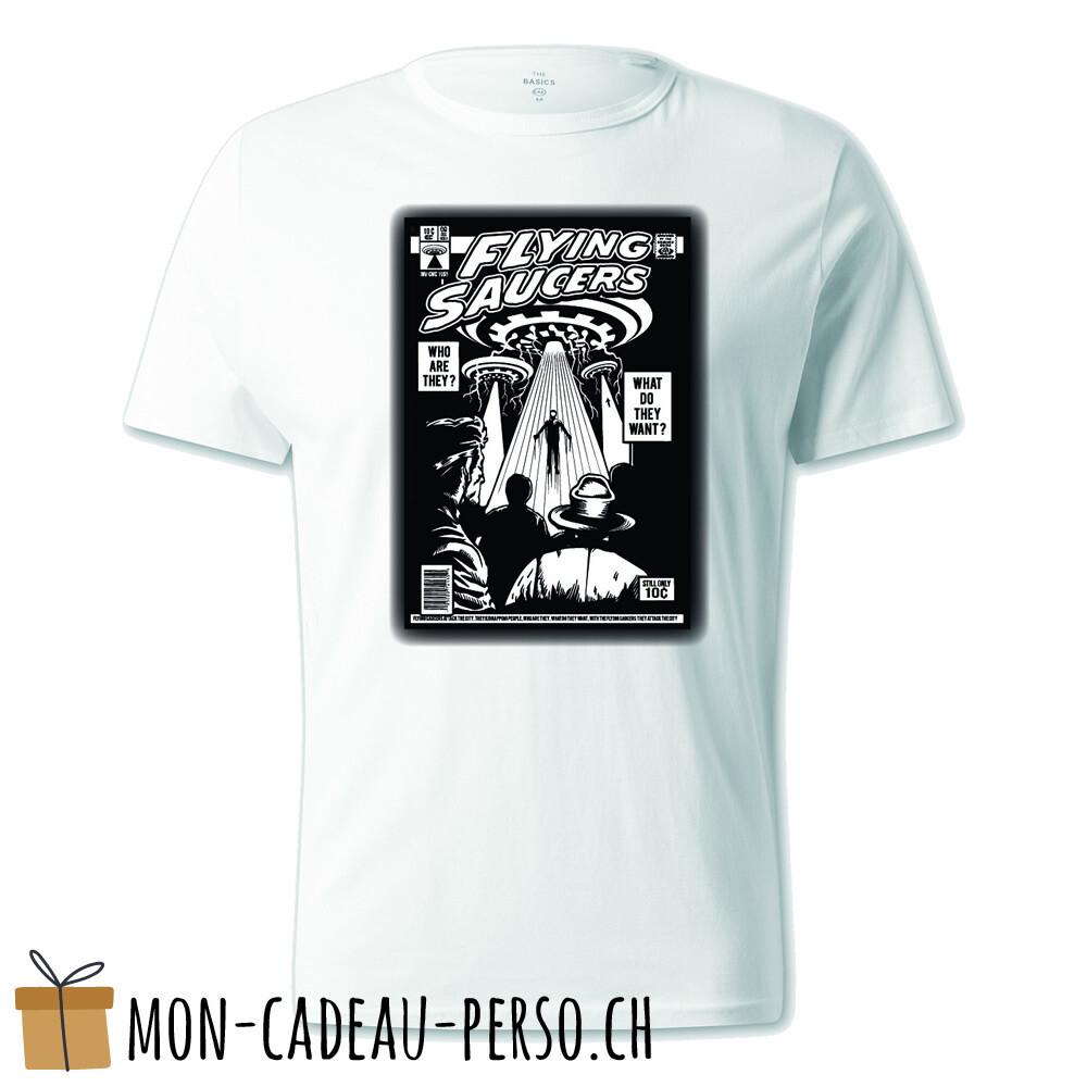 T-shirt pré-imprimé -  blanc - UNISEXE - UFO