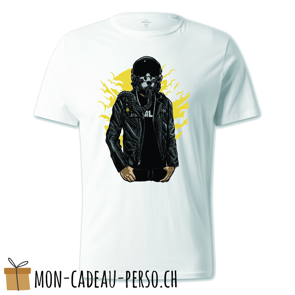 T-shirt pré-imprimé -  blanc - UNISEXE - Sky Fighter