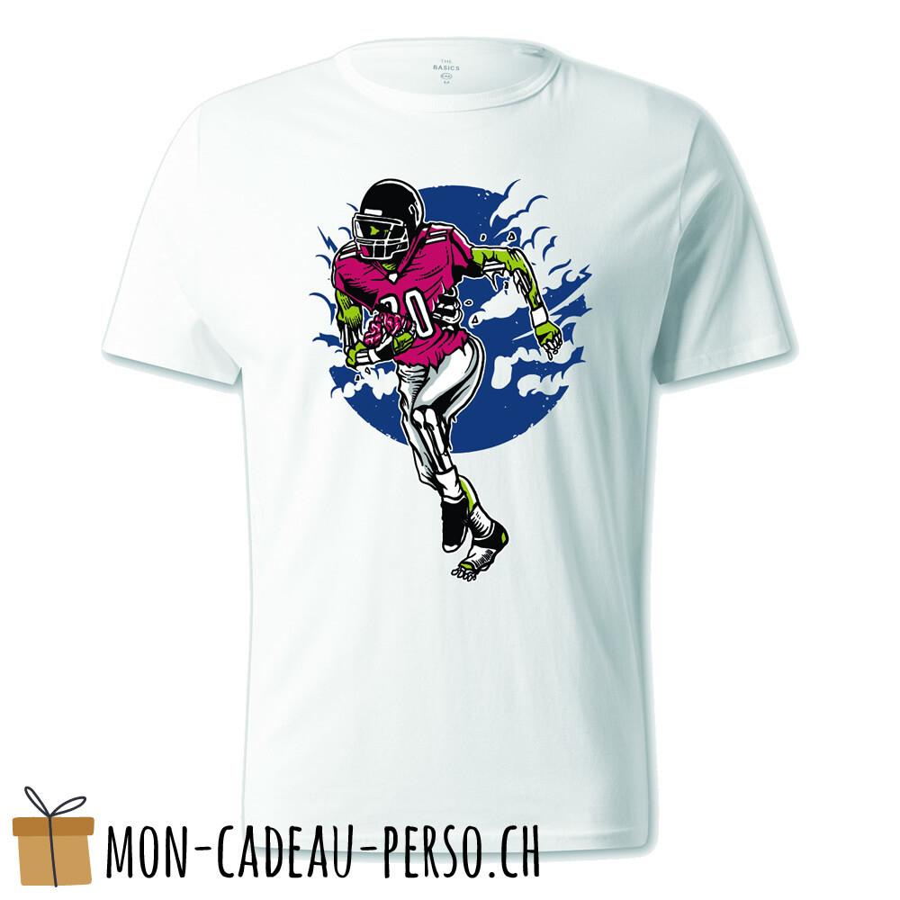 T-shirt pré-imprimé -  blanc - UNISEXE - Zombie Football US