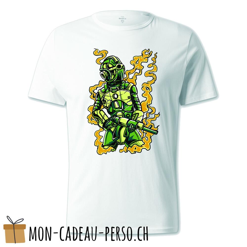 T-shirt pré-imprimé -  blanc - UNISEXE - Robot Soldier