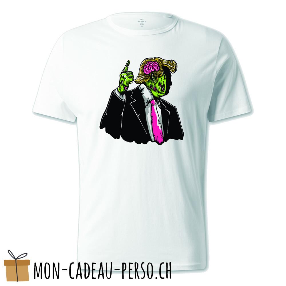 T-shirt pré-imprimé -  blanc - UNISEXE - Make Zombie Great Again