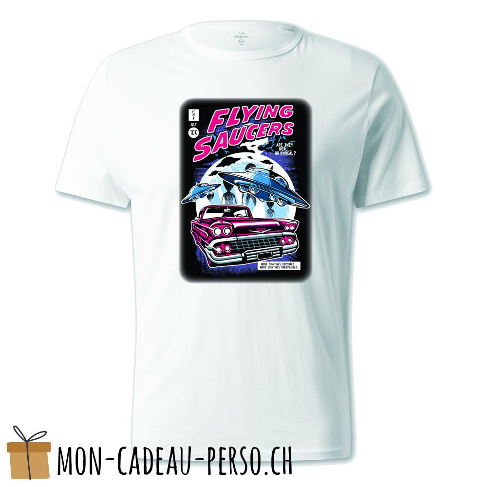T-shirt pré-imprimé -  blanc - UNISEXE - Flying Saucers
