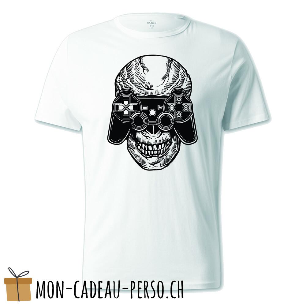 T-shirt pré-imprimé -  blanc - UNISEXE - Skull Gamers
