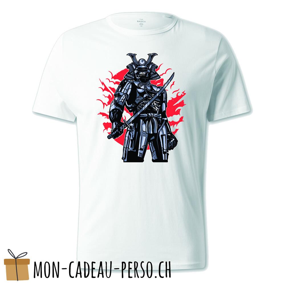 T-shirt pré-imprimé -  blanc - UNISEXE - Samurai Robot Skull