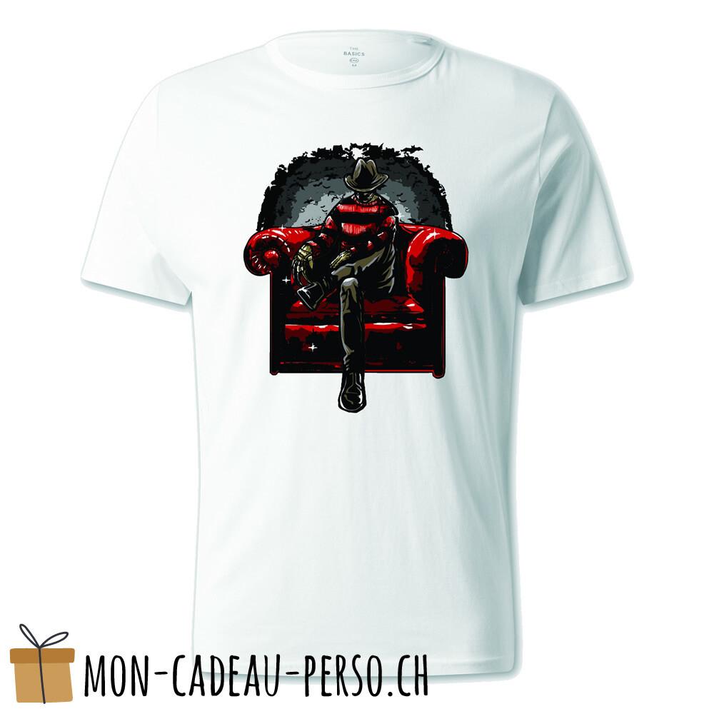 T-shirt pré-imprimé -  blanc - UNISEXE - Nightmare Side