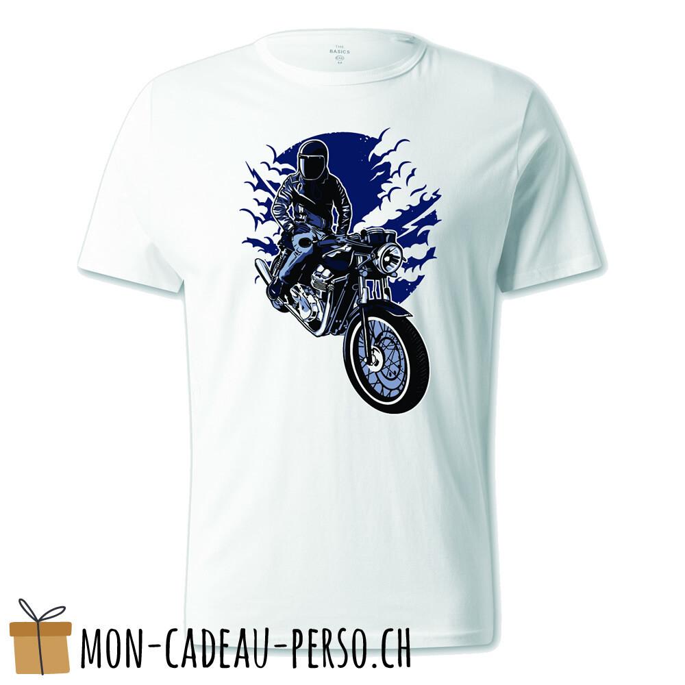 T-shirt pré-imprimé -  blanc - UNISEXE - Night Rider