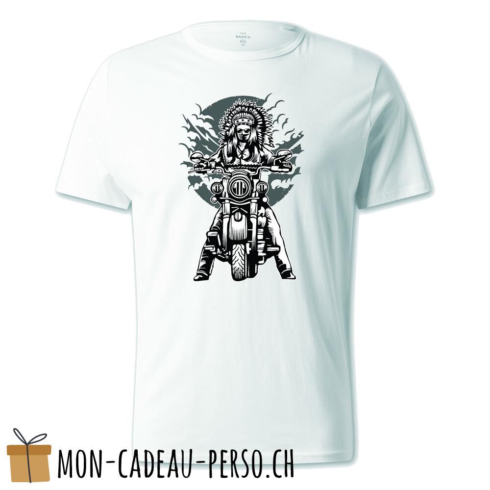 T-shirt pré-imprimé -  blanc - UNISEXE - Indian Chief Motorcycle