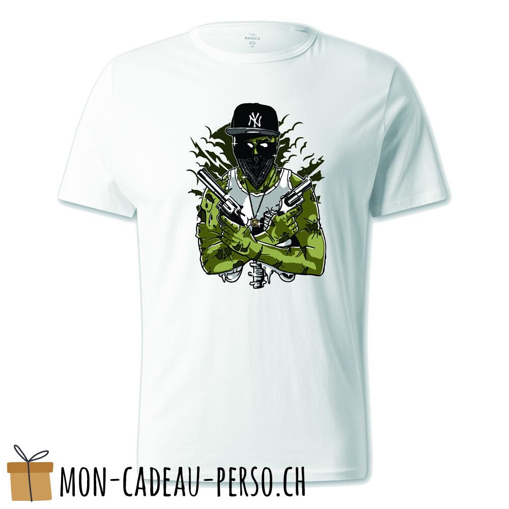 T-shirt pré-imprimé -  blanc - UNISEXE - Gangsta Zombie