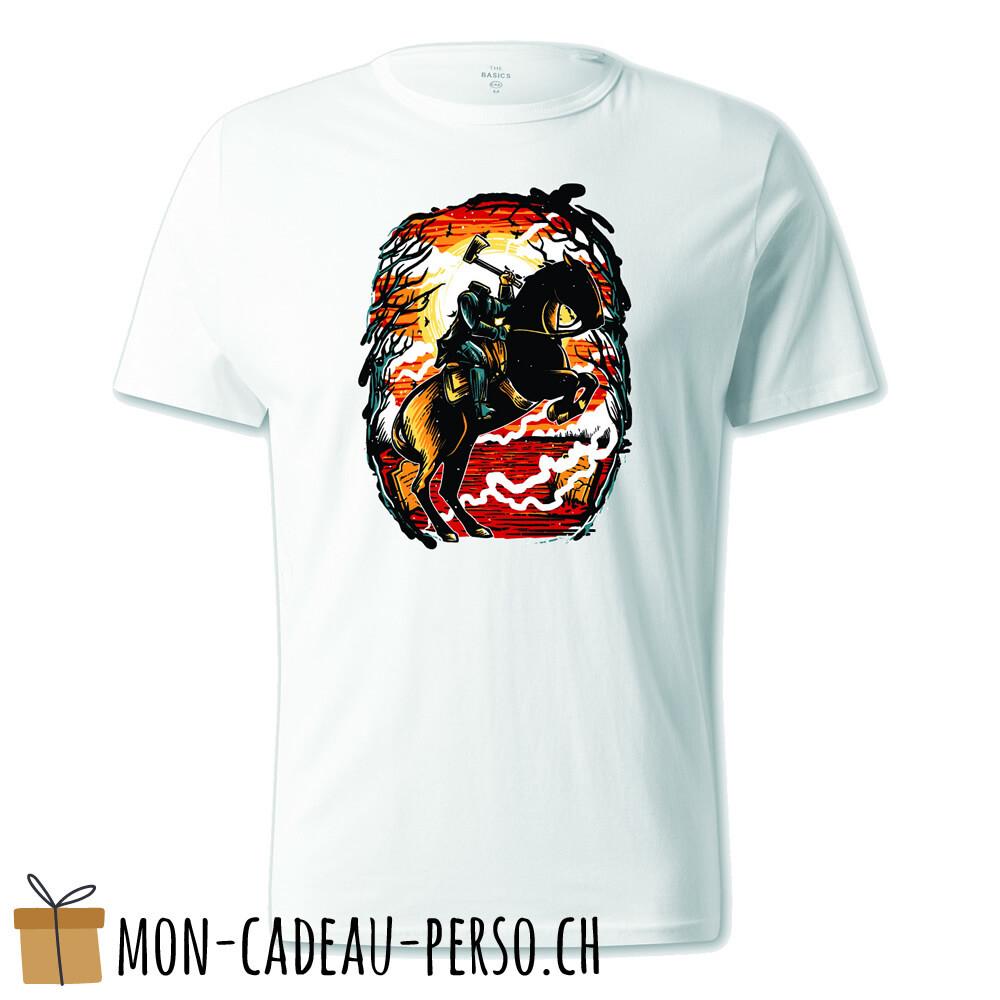 T-shirt pré-imprimé -  blanc - UNISEXE - Headless Horseman