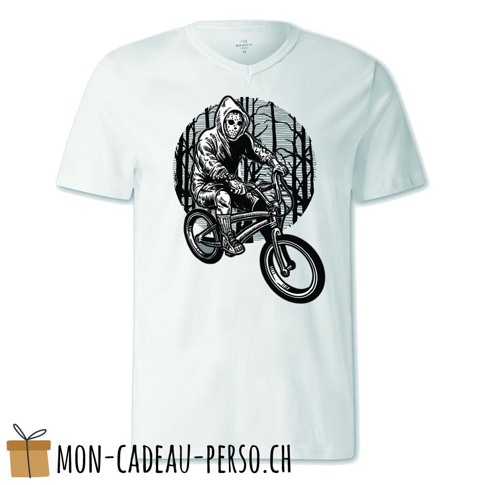 T-shirt pré-imprimé -  blanc - FEMME - Ride Bike To Kill