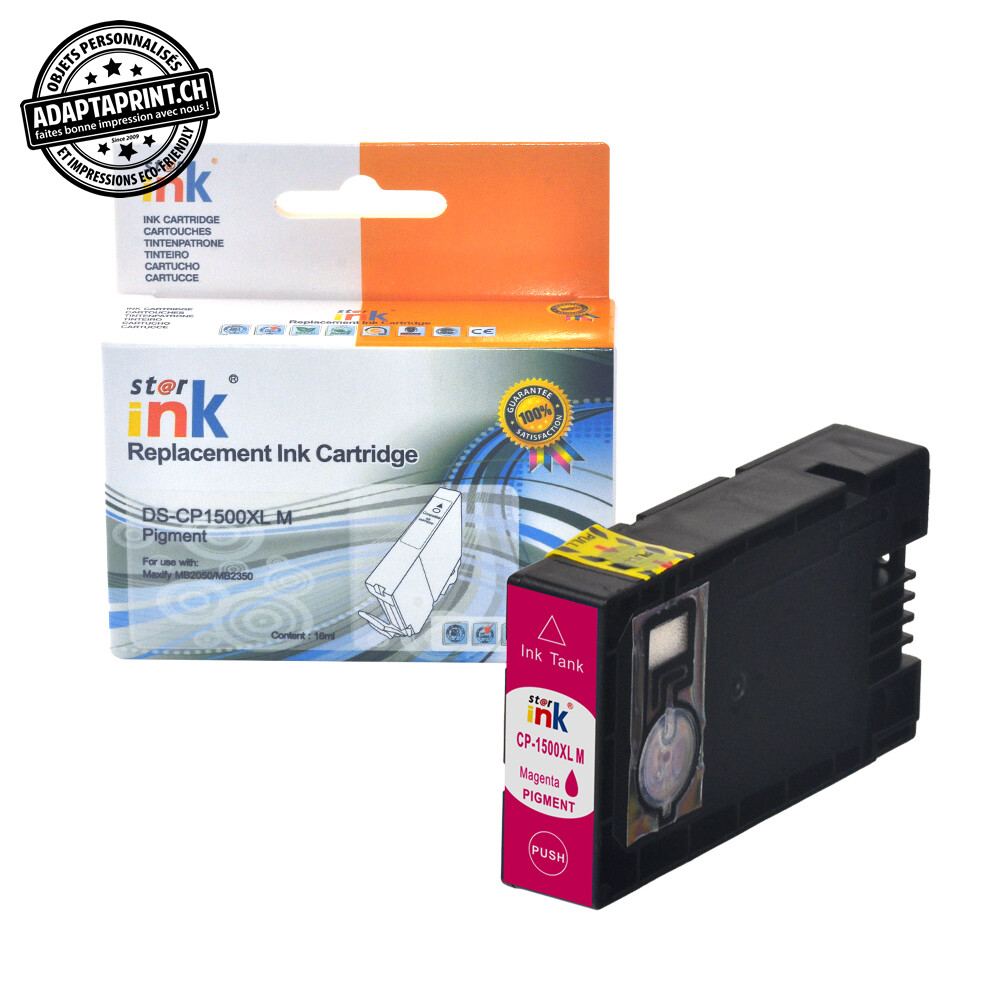 Cartouche d'encre - Magenta (13ml / 832 feuilles) - Compatible Canon PGI-1500XL M