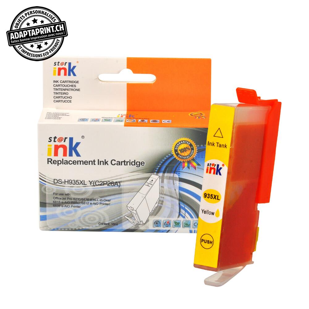 Cartouche d'encre - Jaune (16ml / 1'024 feuilles) - Compatible HP 935XL Y