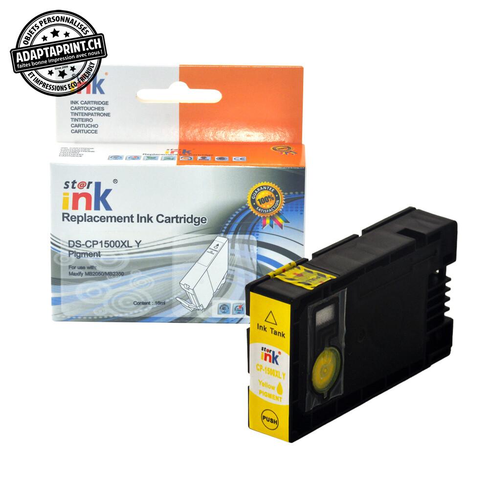 Cartouche d'encre - Jaune (13ml / 832 feuilles) - Compatible Canon PGI-1500XL Y