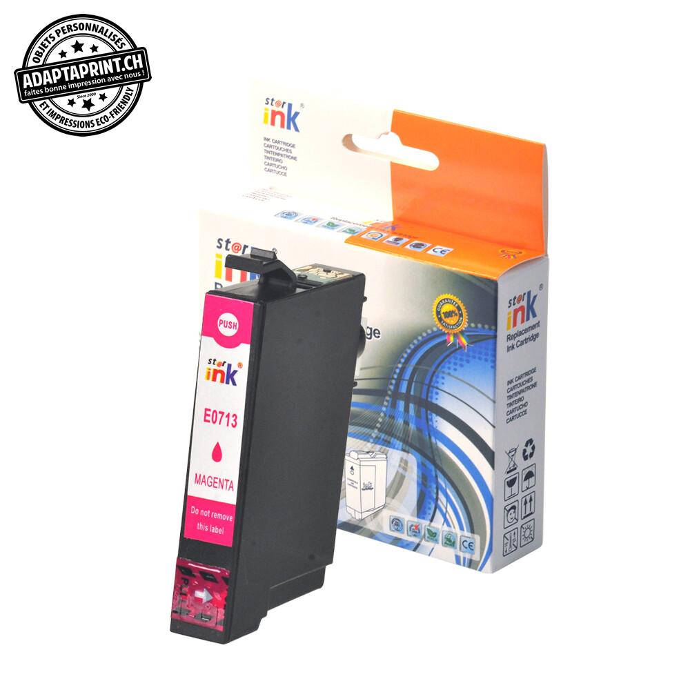 Cartouche d'encre - Magenta (12ml / 768 feuilles) - Compatible Epson T0713 M
