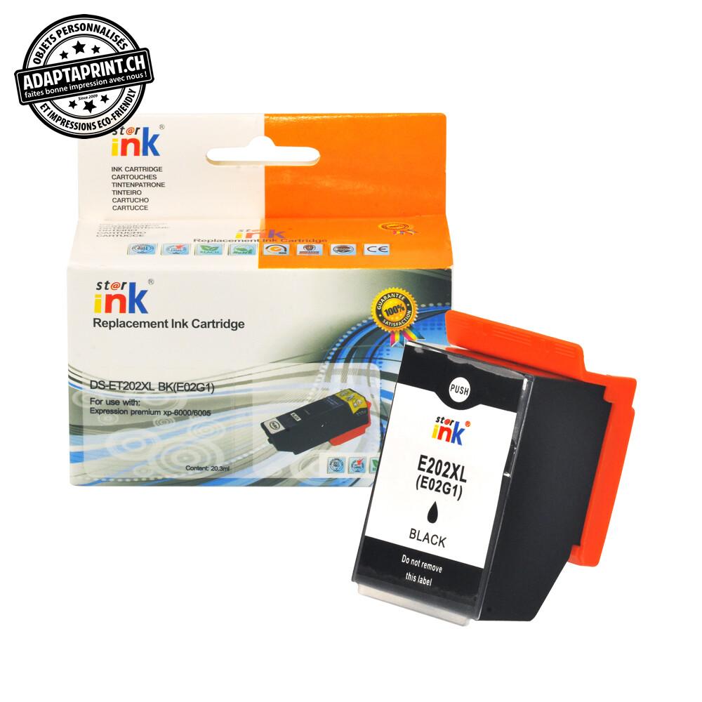 Cartouche d'encre - Noir (20.3ml / 649 feuilles) - Compatible Epson 202XL BK