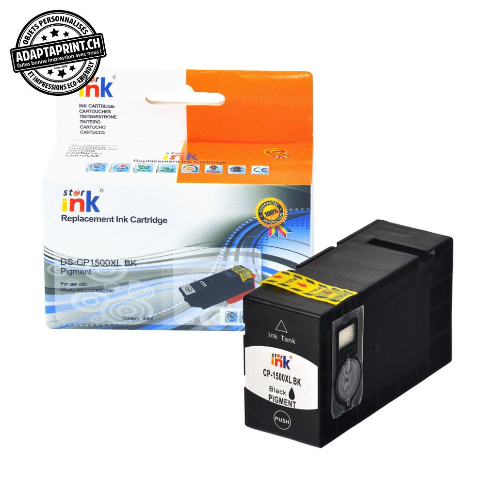 Cartouche d'encre - Noir (35ml / 1'120 feuilles) - Compatible Canon PGI-1500XL BK