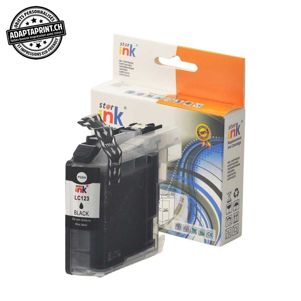 Cartouche d'encre - Noir (20ml / 640 feuilles) - Compatible Brother LC-123BK