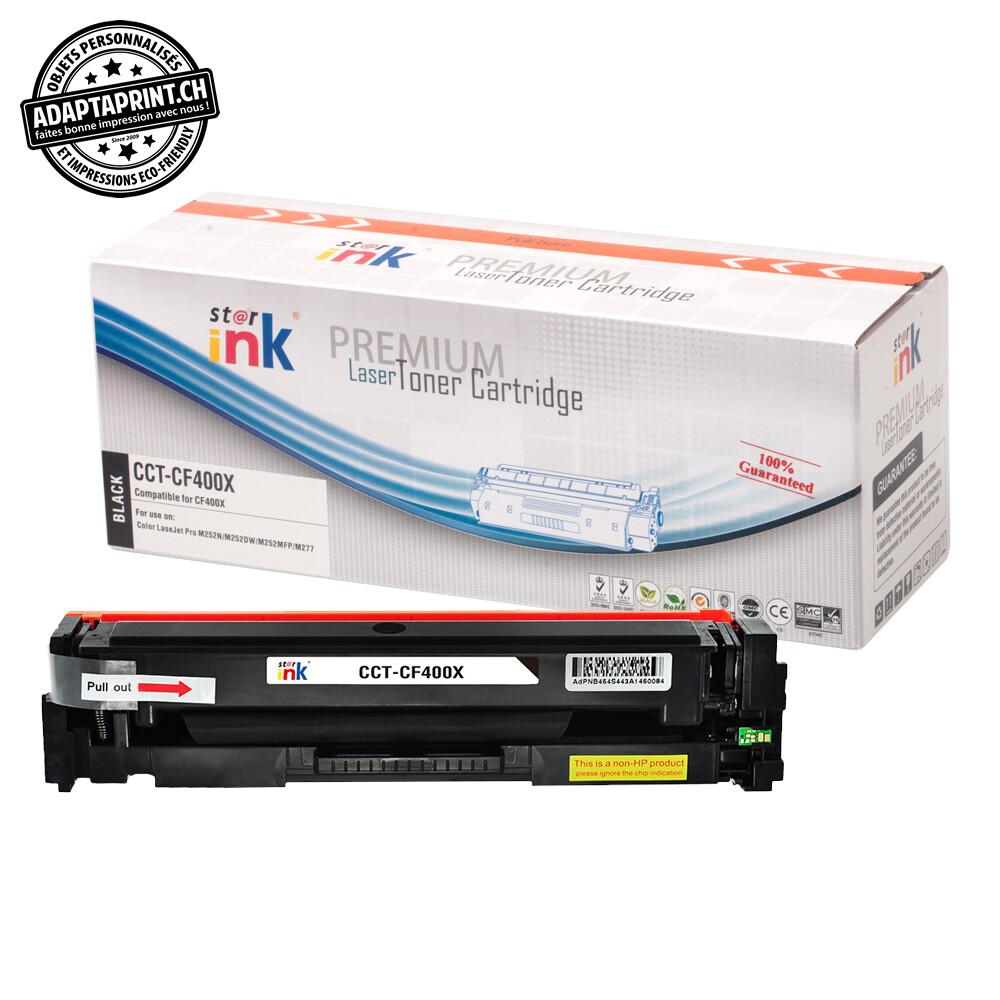 Cartouche de toner - Noir (2'800 feuilles) - Compatible HP CF400X BK