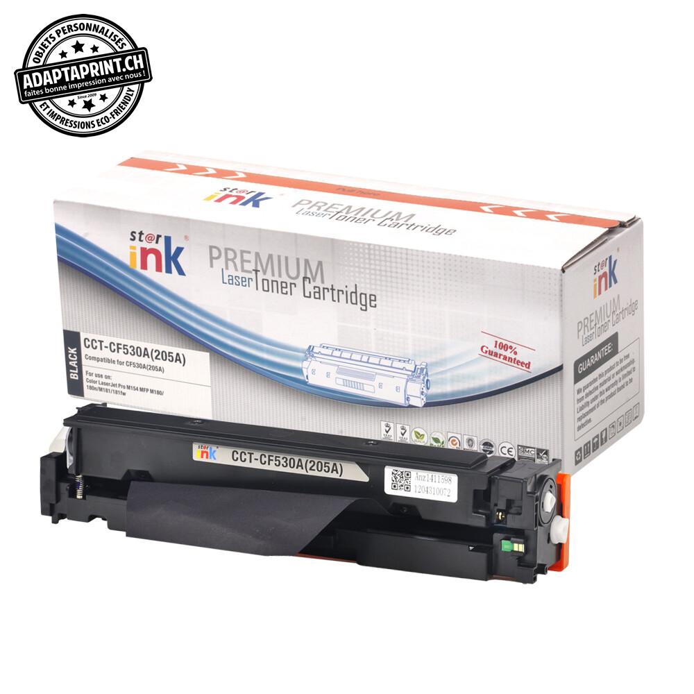 Cartouche de toner - Noir (1'100 feuilles) - Compatible HP CF530A, 205 A BK