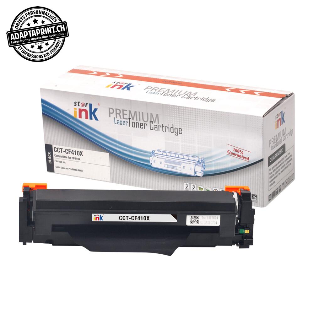 Cartouche de toner - Noir (6'500 feuilles) - Compatible HP CF410X BK