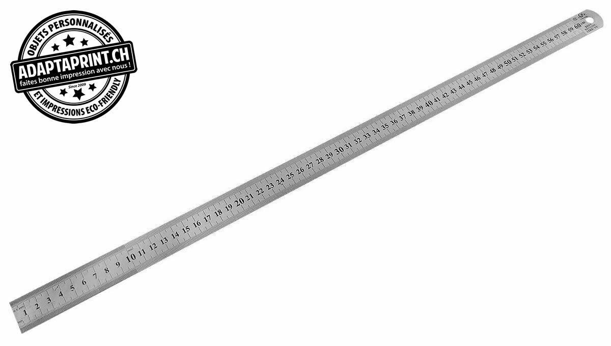 Outil - Règle à mesurer - plate - métal - 60cm - Souple