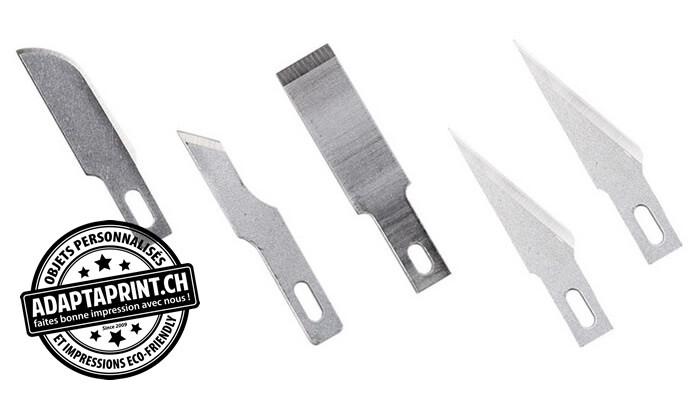 Outil - Lames de cutter - 5 lames assorties Heavy Duty - Pour cutter K1, K3, K17, K18, K30, K40