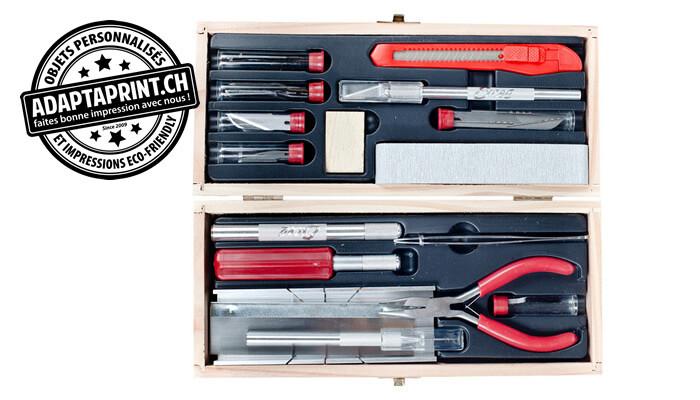 Outil - Set d'outils de modélisme naval DELUXE - Coffret en bois